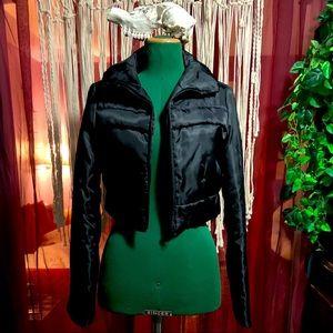 Atmosphere polyester crop moto jacket